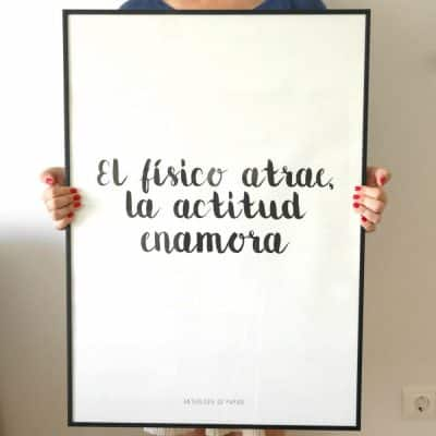 Lámina Actitud Tamaño XXL - Frases Mensaje