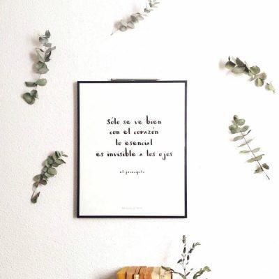 Lámina El Principito con decorado - Frases