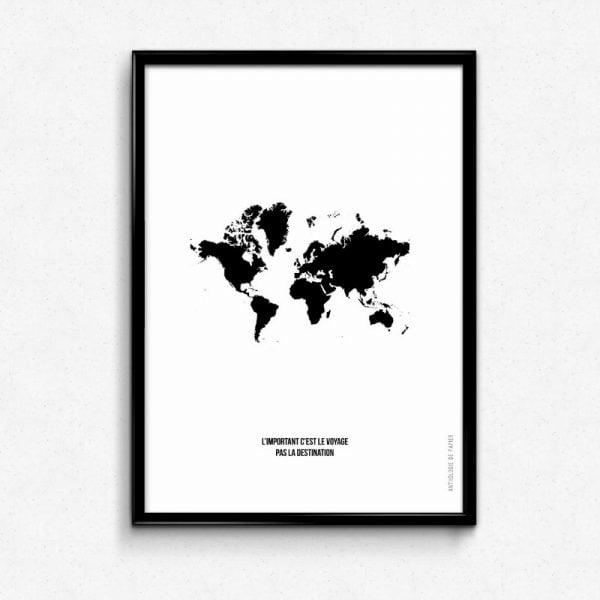 Lámina Carte du Monde - Ilustración
