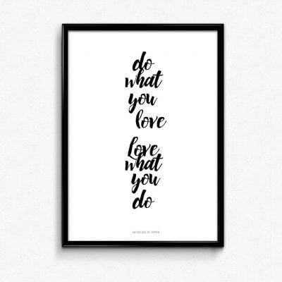 Lámina Do What You Love - Frases