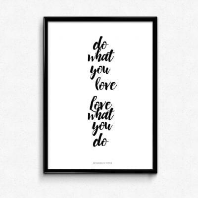 Lámina Do What You Love - Frases