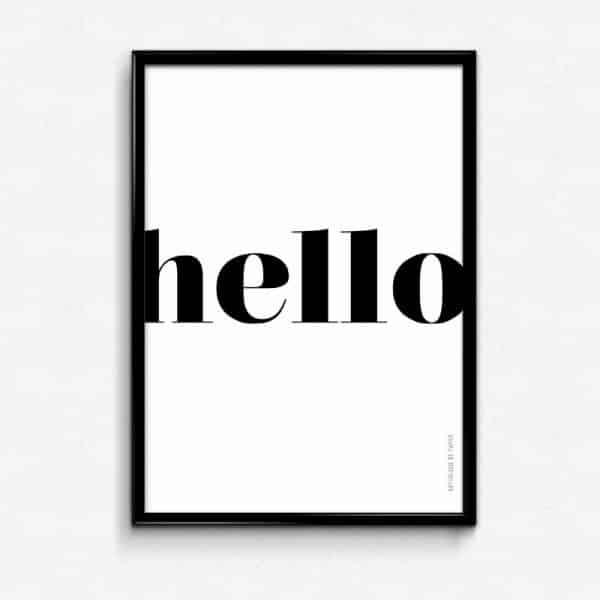 Lámina Hola Hello otro idioma Saludo Bienvenida Hogar - Frase