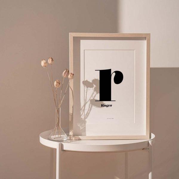 Lámina Nuage Deux R personalizada - Ilustración
