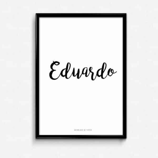 Lámina Non Personalizado Eduardo - Frase Nombre