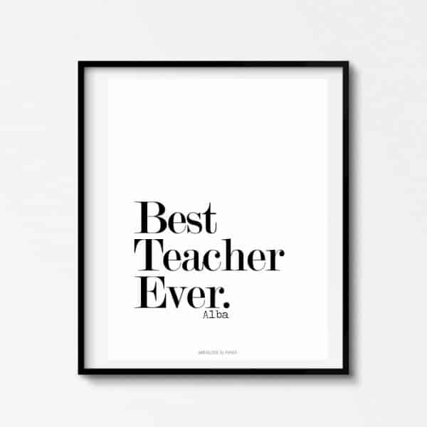 Lámina Best Teacher 3 - Frase
