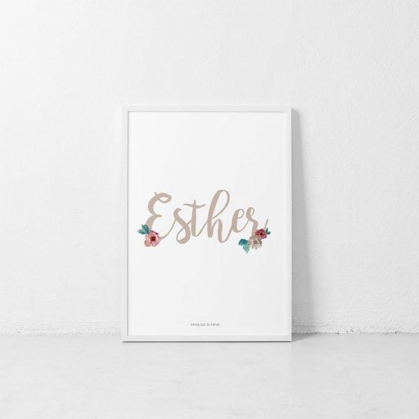 Lámina Les Fleurs Esther - Ilustración