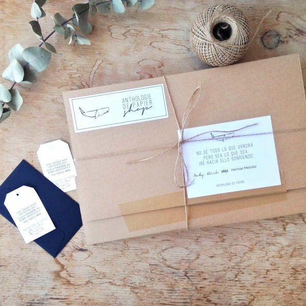 Envío de paquete al detalle de Anthologie de Papier