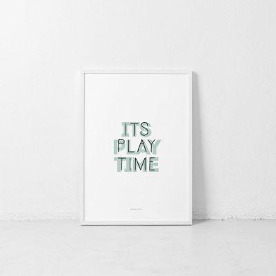 Lámina It's Play Time - Hora del Juego - Ilustración Frases