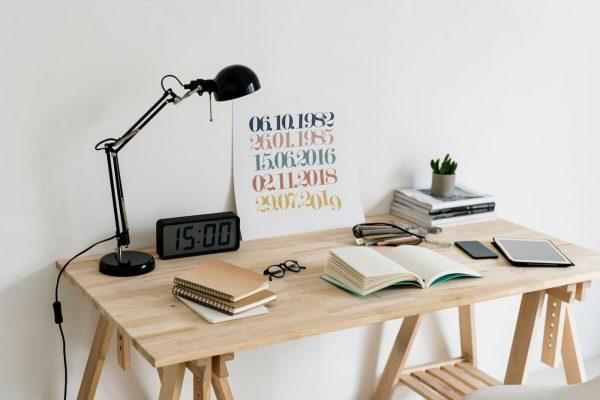 Lámina Des Chiffres couleur personalizada escritorio - Fechas