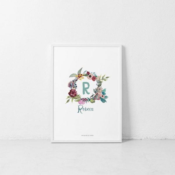 Lámina Fleurs Circulaires Rebeca - Ilustración