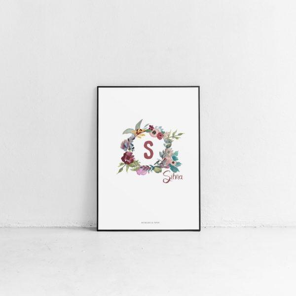 Lámina Fleurs Circulaires Silvia - Ilustración