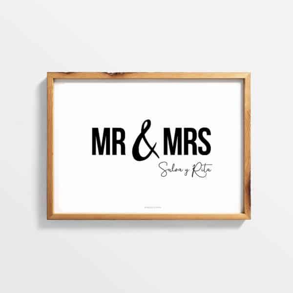 Lámina Marriage Un personalizada - Ilustración