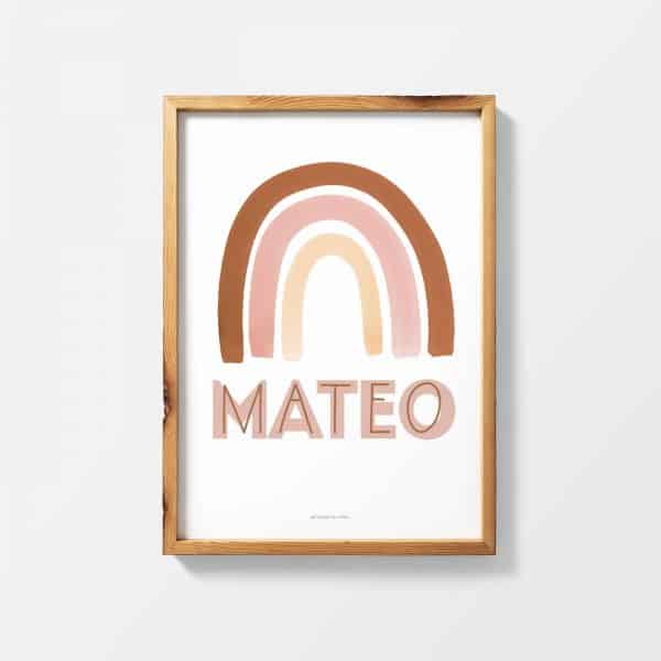 Lámina Rainbow Nom Neutre Mateo - Ilustración
