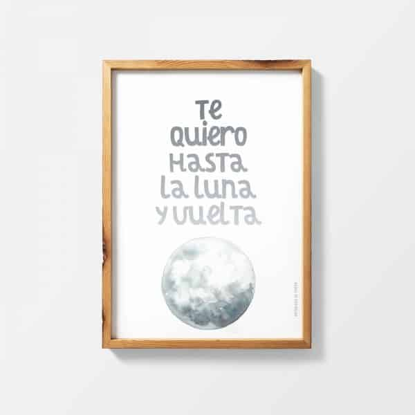 Lámina La Lune - Ilustración Frase
