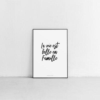 Lámina Famille II - Frase