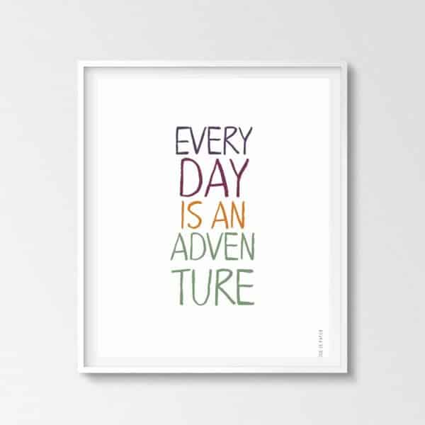 Lámina Adventure - Frases - Elige tu color - Colores cálidos