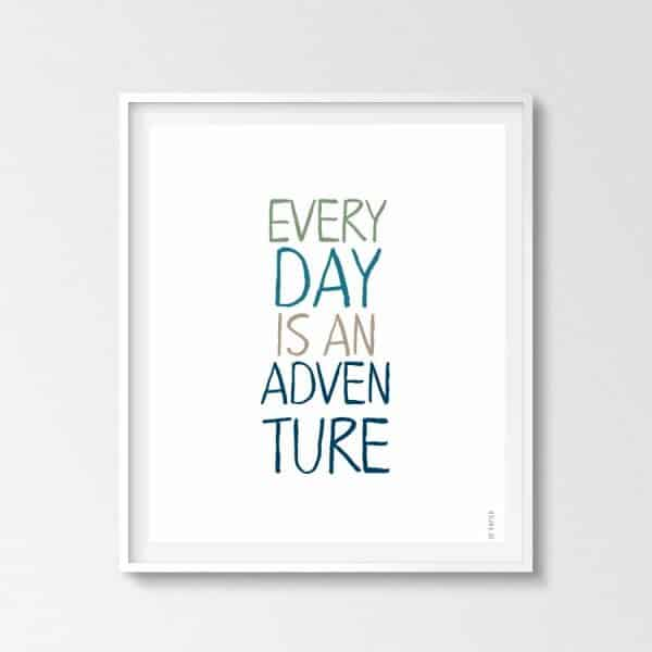 Lámina Adventure - Frases - Elige tu color - Colores fríos
